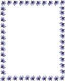 Frontera púrpura 1 del lirio de agua Fotos de archivo libres de regalías