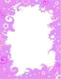 Frontera púrpura de la celebración Imagen de archivo libre de regalías