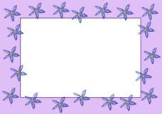 Frontera púrpura de las flores Fotos de archivo libres de regalías