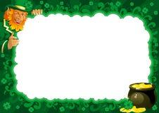 Frontera para el día del St. Patrick Imagen de archivo
