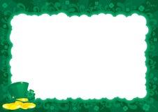 Frontera para el día del St. Patricks Imagen de archivo libre de regalías