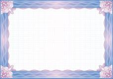 Frontera para el diploma o el certificado ilustración del vector