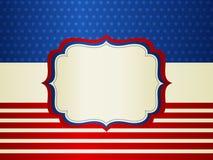 Frontera patriótica Foto de archivo libre de regalías