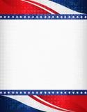 Frontera patriótica Fotografía de archivo libre de regalías