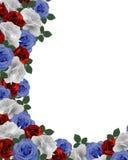 Frontera patriótica de las rosas Imagen de archivo