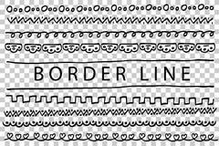 Frontera - punto, triángulo y otros, aislados en blanco, ilustración del vector