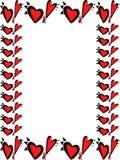 Frontera rara del corazón del día de tarjetas del día de San Valentín Imagenes de archivo