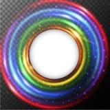 Frontera redonda con la luz del arco iris libre illustration