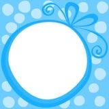 Frontera redonda del marco del regalo Imágenes de archivo libres de regalías
