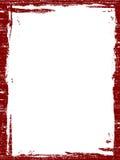 Frontera roja de Grunged Foto de archivo libre de regalías