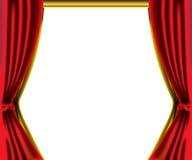 Frontera roja de la cortina Imagen de archivo