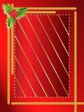 Frontera roja de la Navidad de las bayas Imagenes de archivo