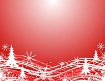 Frontera roja de la Navidad del invierno Imágenes de archivo libres de regalías