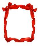 Frontera roja de las cintas del arqueamiento Fotos de archivo libres de regalías