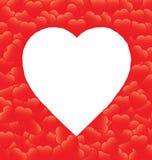 Frontera roja del corazón stock de ilustración