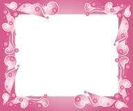 Frontera rosada decorativa del marco Foto de archivo libre de regalías