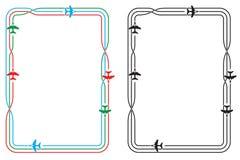 Frontera simple del jet Fotos de archivo