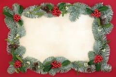 Frontera tradicional de la Navidad Foto de archivo
