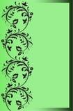 Frontera verde con los ornamentos florales Imagen de archivo libre de regalías
