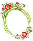 Frontera verde de la flor Fotos de archivo libres de regalías