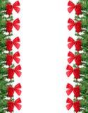 Frontera verde y roja de la Navidad Foto de archivo libre de regalías