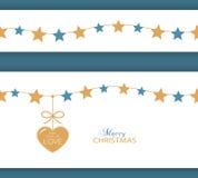 Frontera y corazón de la estrella de la Navidad el regalo del amor Imagen de archivo libre de regalías