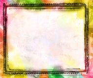 Frontera y fondo de Grunge ilustración del vector