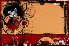 Frontera y fondo de Grunge Imágenes de archivo libres de regalías
