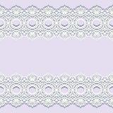 Fronteras blancas con la sombra, líneas de papel ornamentales, vector del cordón Nombre del letrero Invitación romántica de la bo stock de ilustración
