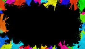 Fronteras coloridas de la acuarela Diseño para la bandera, el marco, los papeles pintados, las cubiertas y empaquetar fotografía de archivo libre de regalías