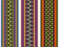 Fronteras coloridas de la alheña Fotografía de archivo