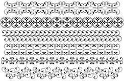 Fronteras de la decoración fijadas Imagenes de archivo