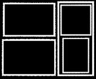 Fronteras de la foto de la vendimia   ilustración del vector