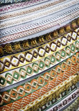 Fronteras de la materia textil Fotos de archivo