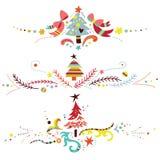 Fronteras de la Navidad stock de ilustración