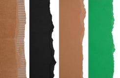 Fronteras de papel rasgadas Imagen de archivo