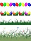 Fronteras decorativas de Pascua Foto de archivo