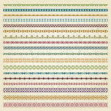 Fronteras decorativas en el color - estilo del vintage Imágenes de archivo libres de regalías
