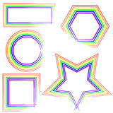 Fronteras del arco iris Foto de archivo libre de regalías
