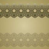 Fronteras del cordón del oro, líneas de papel ornamentales, vector nam del letrero libre illustration