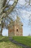 Fronteras del escocés de la torre de Greenknow imagen de archivo