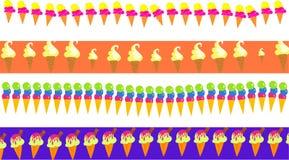 Fronteras del helado Imagen de archivo libre de regalías