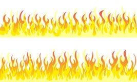 Fronteras del marco de la llama del fuego ilustración del vector