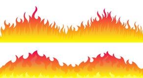 Fronteras del marco de la llama del fuego stock de ilustración