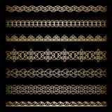 Fronteras del oro fijadas ilustración del vector