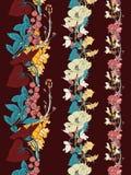 Fronteras del vector de la flor Fotografía de archivo