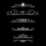 Fronteras del vector del vintage Sistema de divisores caligráficos Fotografía de archivo