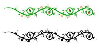 Fronteras, elementos decorativos de la flor Imagen de archivo