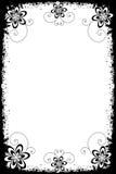 Fronteras florales de Grunge stock de ilustración