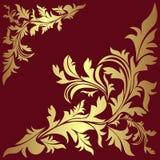 Fronteras florales de oro de lujo. Imágenes de archivo libres de regalías